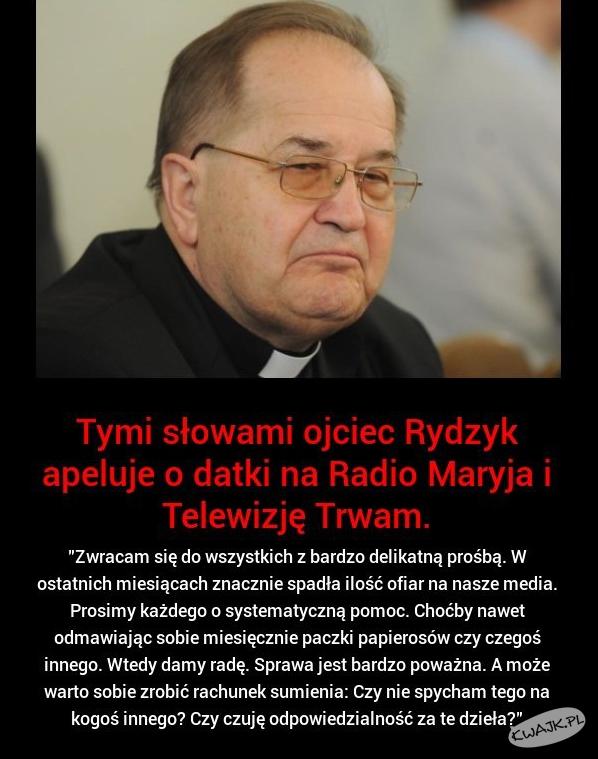Ojciec Rydzyk apaluje o datki na Radio Maryja i TV Trwam