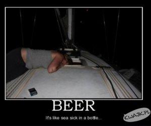 Piwo to choroba morska w butelce