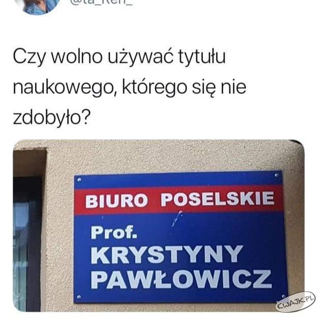 Tytuł naukowy Krystyny Pawłowicz