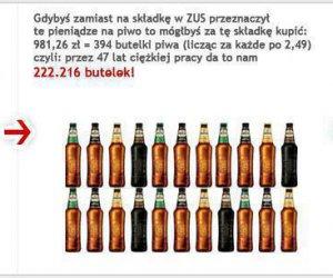 Jak osiągnąć wyższą emeryturę pijąc piwo zamiast płacić podatek ZUS?