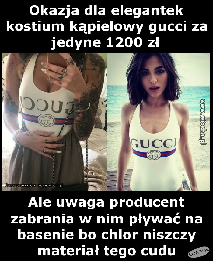 Kostium kąpielowy za 1200 zł., ale...