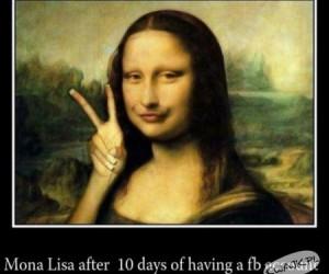 Mona Lisa po założeniu konta na FB