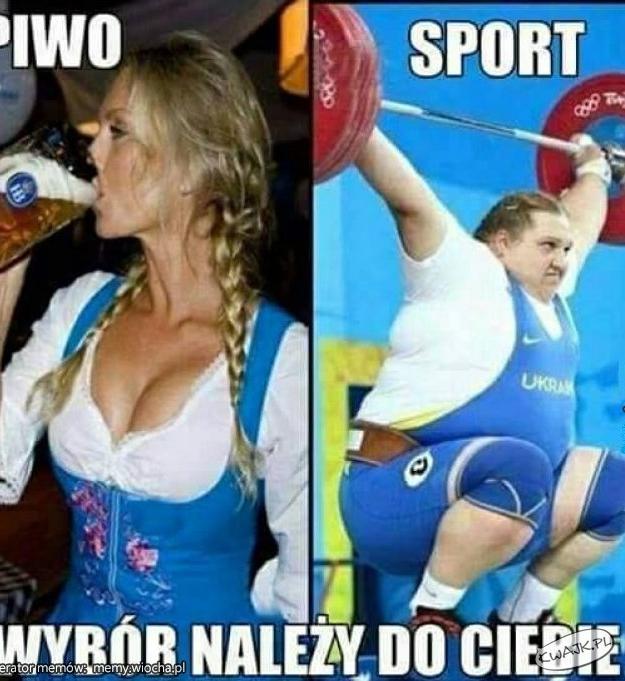 Piwo czy sport?