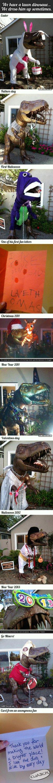 Dinozaur przebieraniec