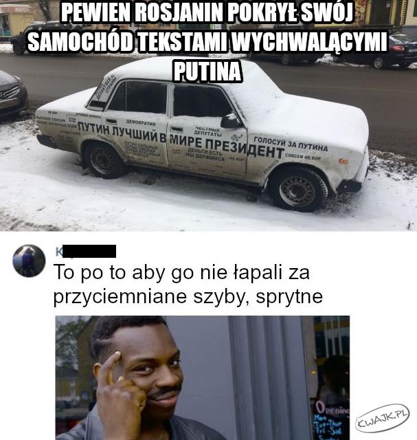 Auto wychwalające Putina