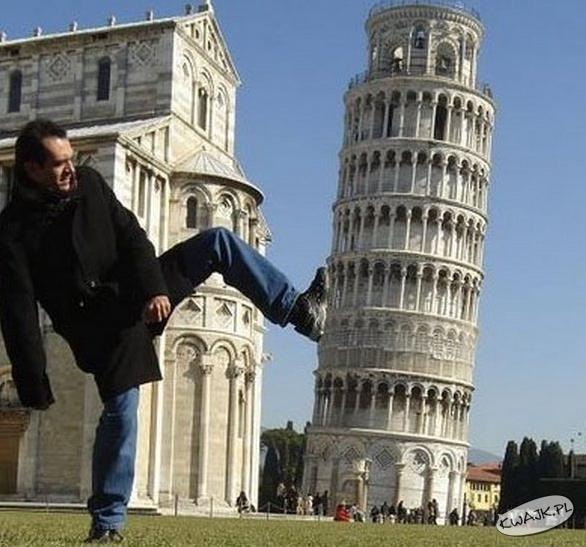 Sorry! To moja wina, że ta wieża jest krzywa