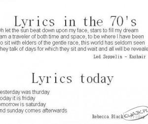 Ewolucja tekstów piosenek...