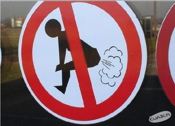 Zakaz walenia z dupy