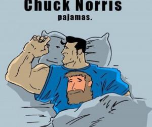 Piżama z Chuckiem Norrisem