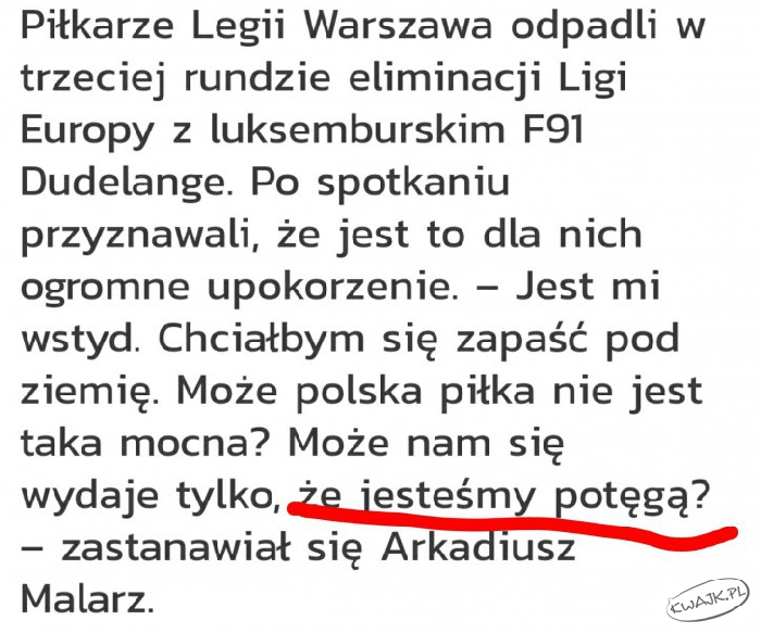 Myśl o piłkarzach Legii Warszawa