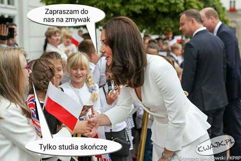 Cel wizyty księżnej Cambridge w Polsce ;)