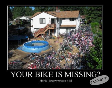 Zgubiłeś rower? Chyba wiem gdzie może być!