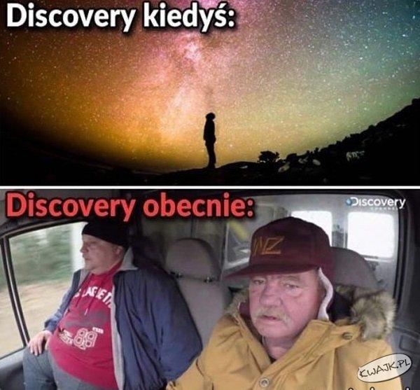 Discovery - kiedyś vs. obecnie
