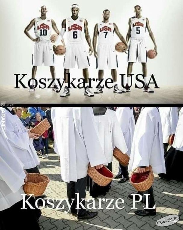 Koszykarze USA vs. koszykarze PL