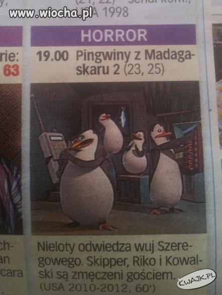 Pingwiny z Madagaskaru jako Horror.