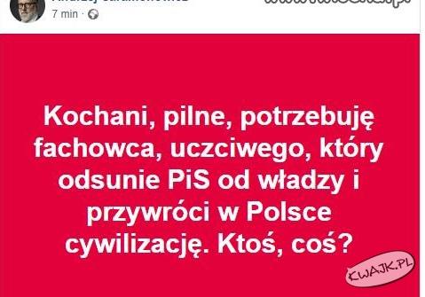 Pan Andrzej potrzebuje fachowca...