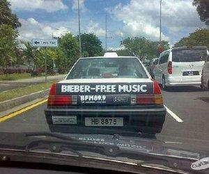 Taxi wolna od muzyki Biebera