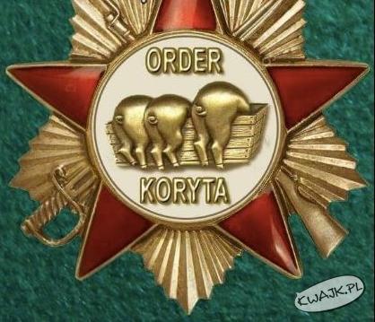 Znakomity projekt orderu dla naszych rządzących