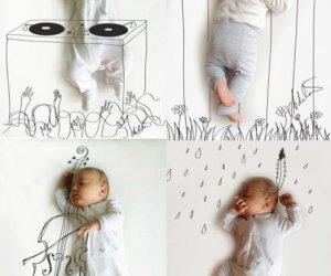 Kreatywne zdjęcia dziecka