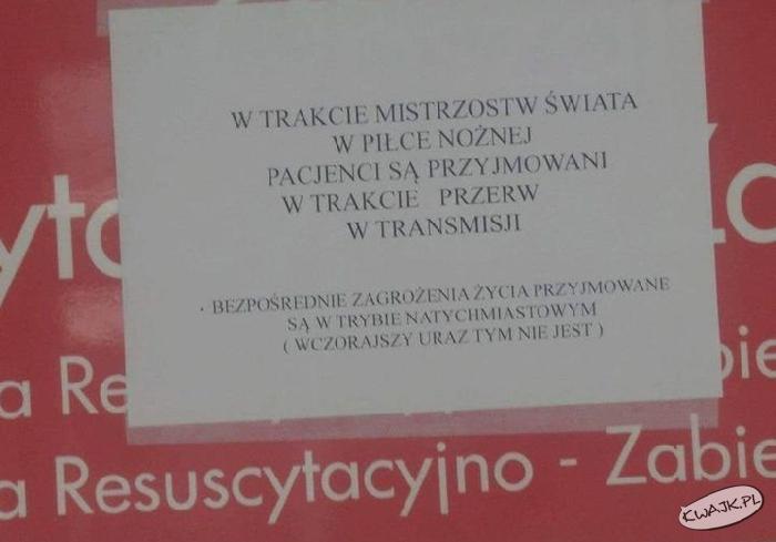 Takie tam z jednego z polskich szpitali