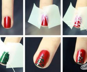 Zrób to sama - świąteczne paznokcie