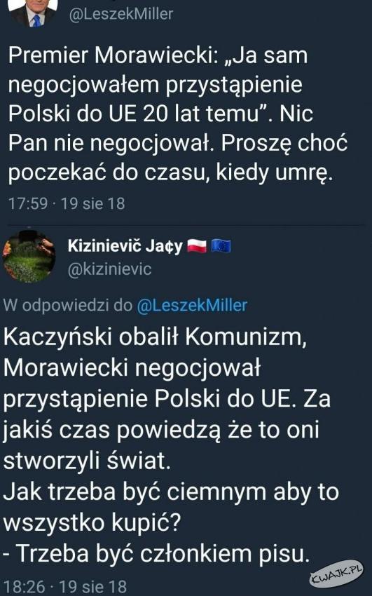 Leszek Miller szaleje na Twitterze