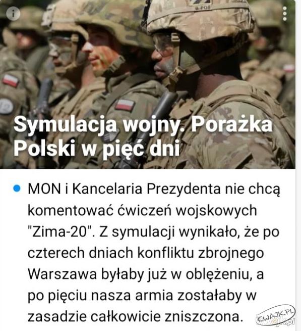 Symulacja wojny. Porażka Polski w 5 dni