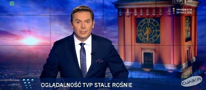 """Paski podczas """"Wiadomości"""" TVP nadal """"w formie"""""""