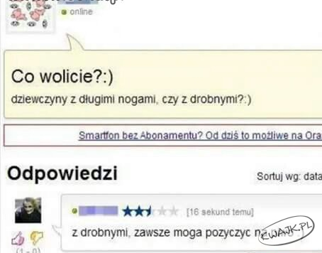 Co wolicie? ;)