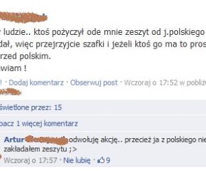 Zeszyt z polskiego