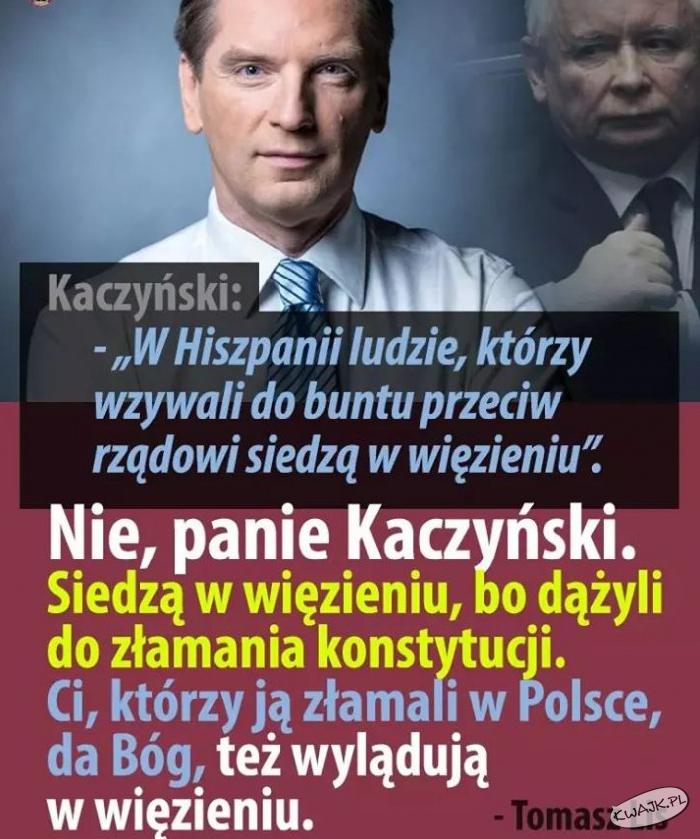 Tomasz Lis do prezesa Kaczyńskiego