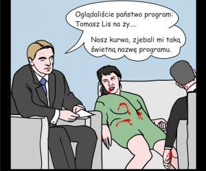 Tomasz Lis na ży...