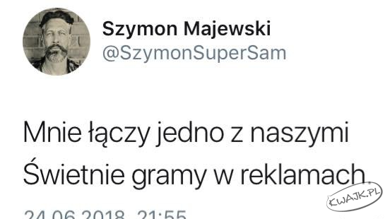 """Szymon Majewski: """"Mnie łączy jedno z naszymi..."""""""