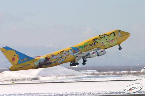 Samolot z pokemonami