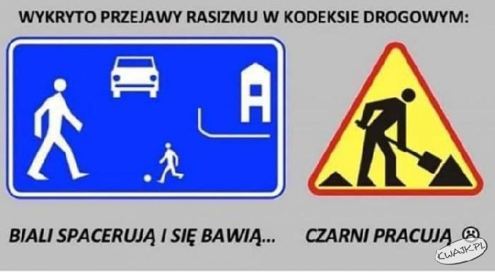 Wykryto przejawy rasizmy w kodeksie drogowym!