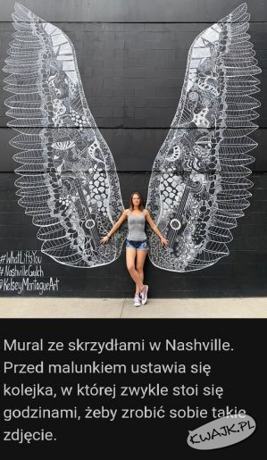 Mural ze skrzydłami w Nashville