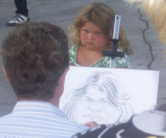 Raczej nie spodoba jej się ten rysunek