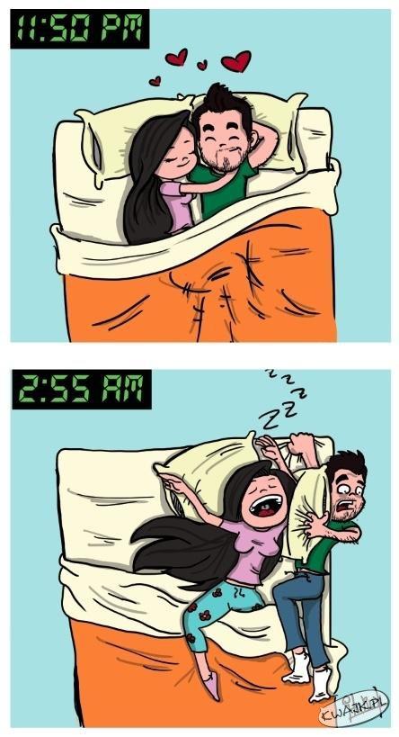 Lubię rozpychać się w łóżku