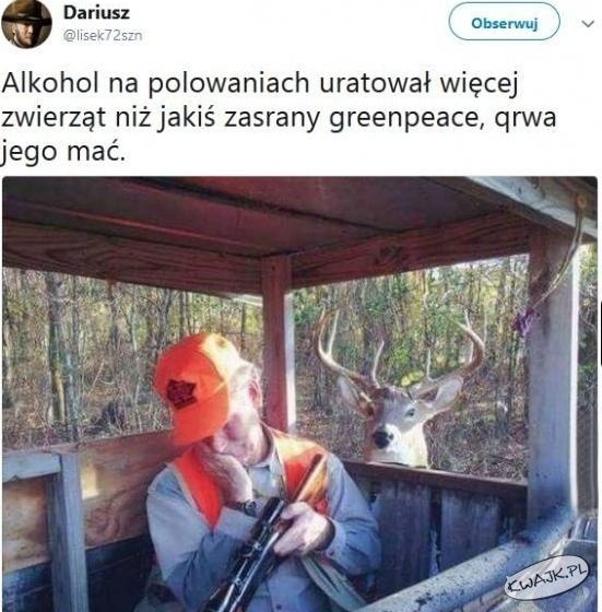 Alkohol na polowania uratował więcej zwięrząt niż...