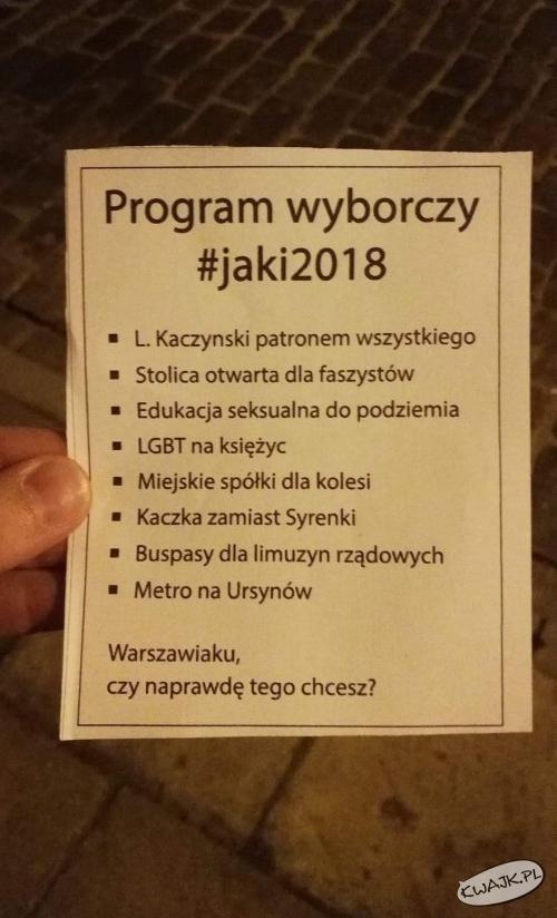 Program wyborczy #jaki2018