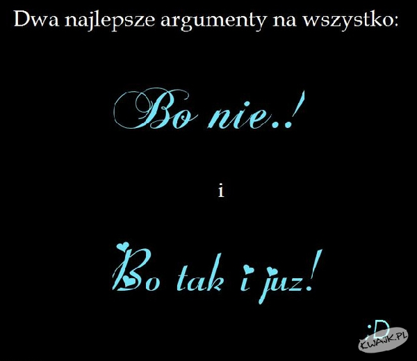 Argumenty na wszystko