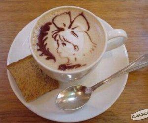 Dziewczynka w kawie