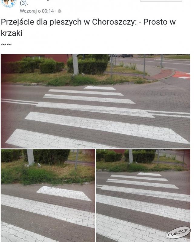 Przejście dla pieszych w Choroszczy