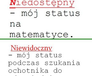 Statusy na matmie