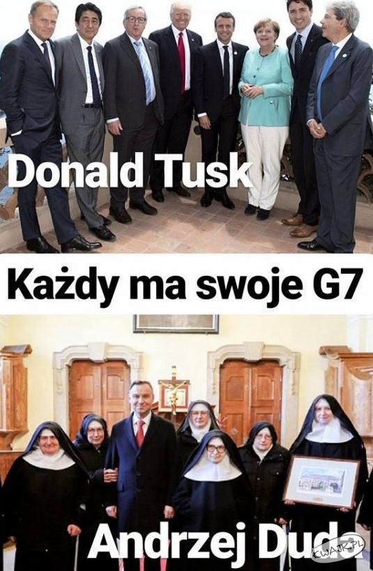 Każdy ma swoje G7