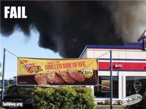 KFC poszło z dymem