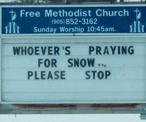 Modlitwa o śnieg