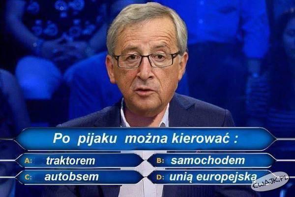 Juncker w milionerach