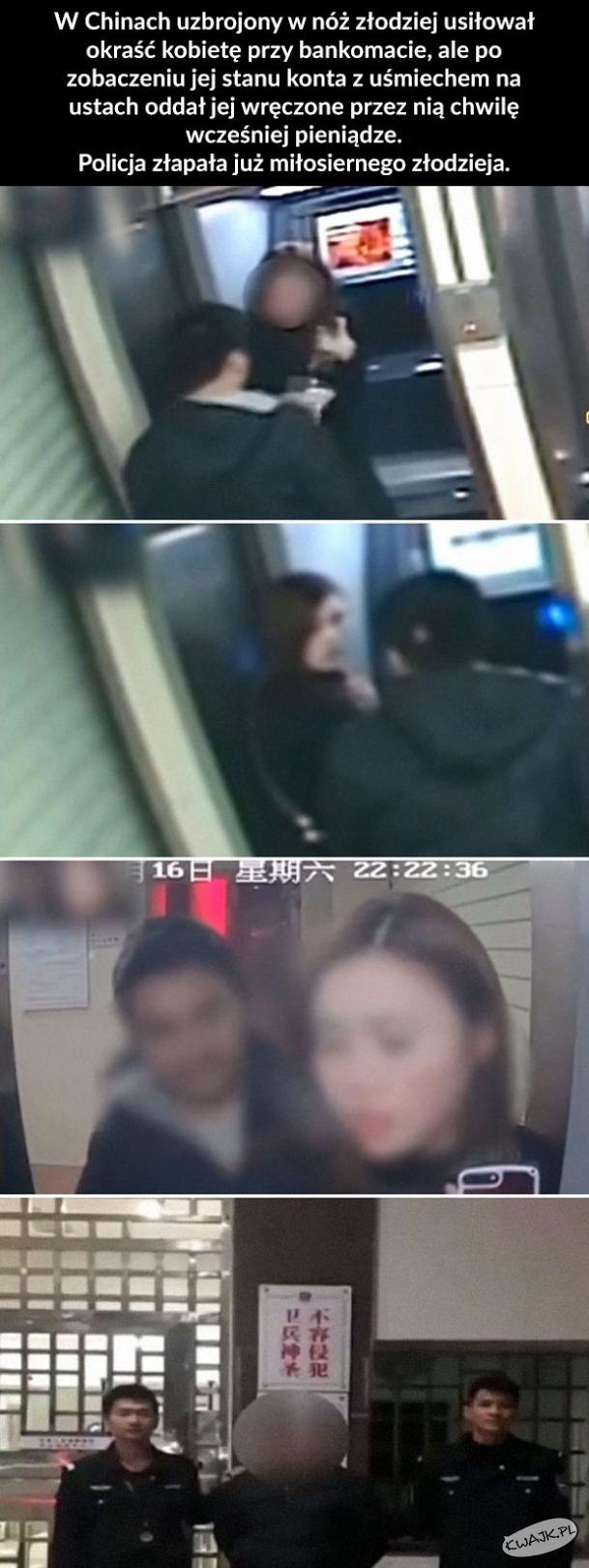 Napadł na kobietę przy bankomacie, ale kiedy zobaczył jej stan konta...