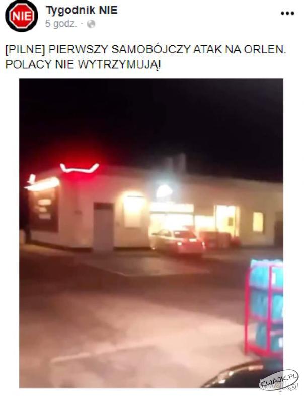 Pierwszy samobójczy atak na Orlen
